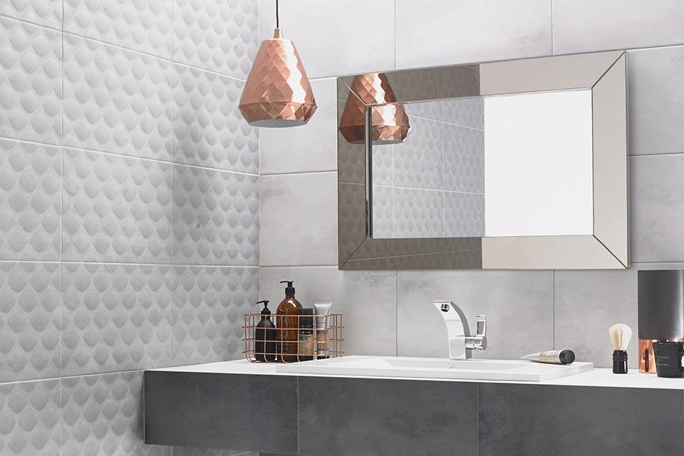 bathroom wall tiles ted baker white tactile designer tile