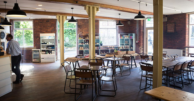 200k investment helps entrepreneur pair set up cafe promoting one side of the caf houses a deli promoting yorkshire producers such as leeds bread co op shepherds purse cheese and saltaire brewery beer malvernweather Images