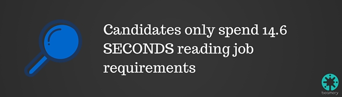 Candidates spend up little time reading job requirements