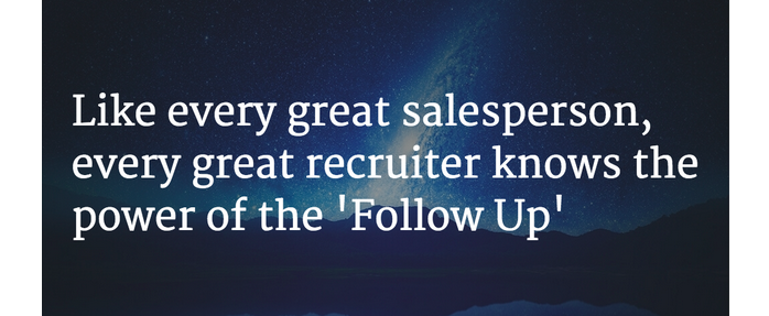 Recruiters are like salespeople