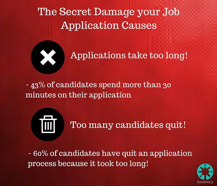 The Secret Damage your job application causes