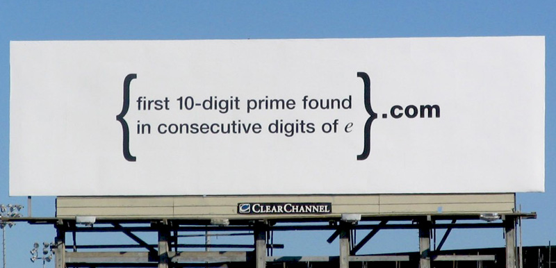 Google's cryptic billboard