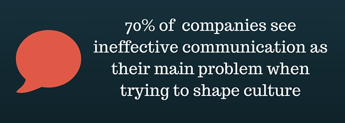 Ineffective communication is main problem when shaping culture