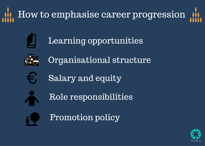 How to emphasise career progression