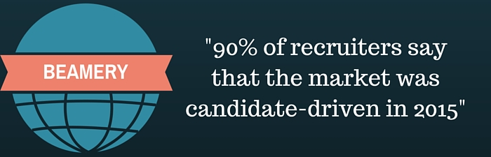 90% of recruiters see the market as candidate driven