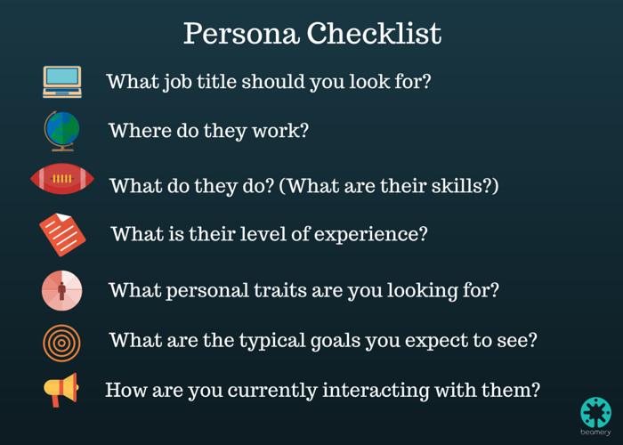 Candidate Persona Checklist