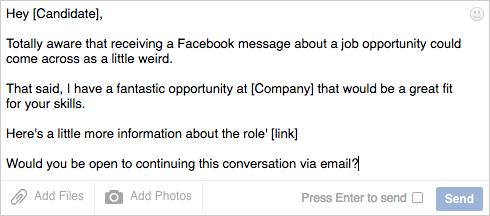 Facebook sourcing template