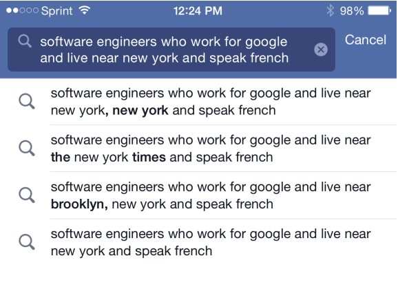 Mobile Facebook Sourcing