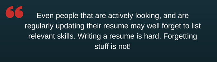 Writing a resume sourcing