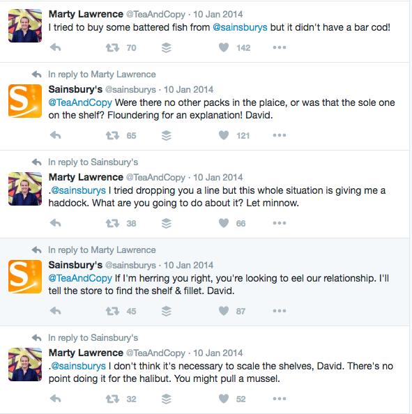 Sainsbury's Twitter Exchange