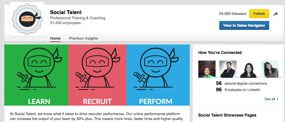 social-talent-company-page