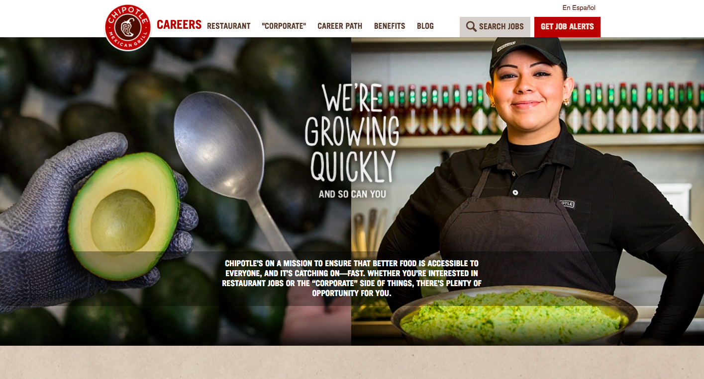 Chipotle - Careers Page