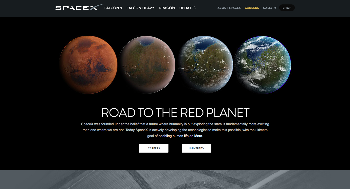 Space X - Careers Page
