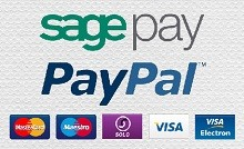 We accept Visa, Maestro & Mastercard through SagePay, & PayPal