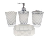4 Piece Bathroom Accessory Sets (Box Quantity 24)