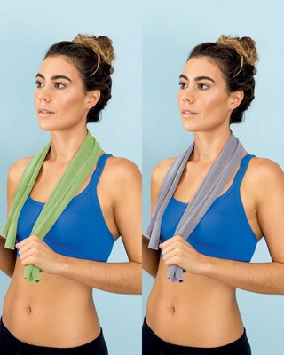 Snap Cold Towel - Designed for Gym and Travel 30x100cm