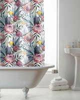 Tropical Design Hookless Shower Curtains (Box Quantity 24)