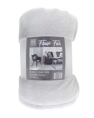 Faux Fur Luxury Reversible Blanket Throws (Box Qty 6)