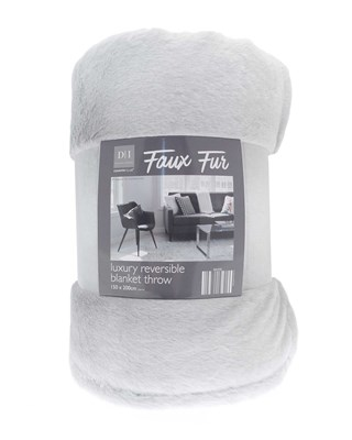 Faux Fur Luxury Reversible Blanket Throws (Box Qty 6)