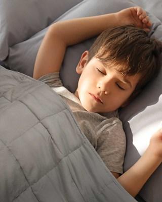 Premium Weighted Blanket for Kids 2.27kg - 91x122cm - Grey