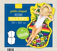 Novelty Design Jumbo Shaped Beach Towels (Box Quantity 12)
