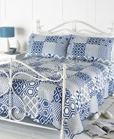 Indigo Embossed Bedspread & Pillow Shams (Box Quantity 6)
