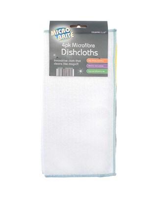MICRO BRITE 4 Pack Microfibre Dishcloths (Box Qty 96)