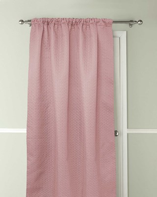Pax Design Embossed Thermal Door Curtains 117x213cm - Blush Pink