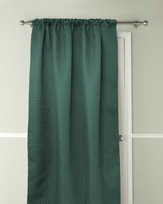 Pax Design Embossed Thermal Door Curtains 117x213cm - Green