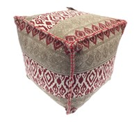 Ikat Printed Design Foot Cushions (Box Quantity 2)