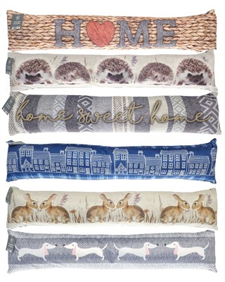 On Trend Design Plush Draught Excluders - Assorted (Box Qty 18)