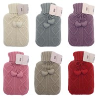 Hot Water Bottles with Cable Knit Cover (Box Quantity 24)