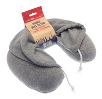 Microbeads Hooded Travel Neck Pillow (Box Quantity 24)