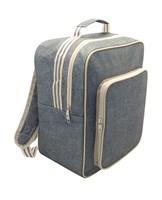 Grey Stripe Design Backpack Cooler Bags (Box Quantity 24)