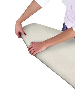 Multi - Fit Elasticated Ironing Board Covers - Natural (Box Qty 36)