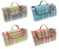 New Tartan Design Fleece Picnic Blankets (Box Quantity 20)