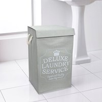 "Large ""Deluxe Laundry Service"" Laundry Hamper (Box Quantity 6)"