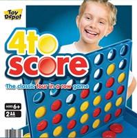 Retro 80's Design Four to Score Board Games (Box Quantity 24)