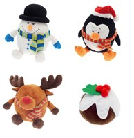 Christmas Design Novelty Door Stops - Assorted (Box Qty 12)