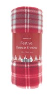 Winter Tartan Design Fleece Throws (Box Quantity 24)