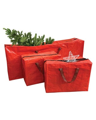 Premium Pack of 3 Christmas Storage Bags (1 Tree Bag + 2 Accessory Bags)