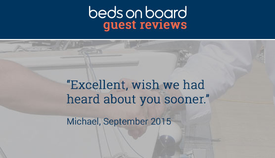 Beds on Board Guest Reviews