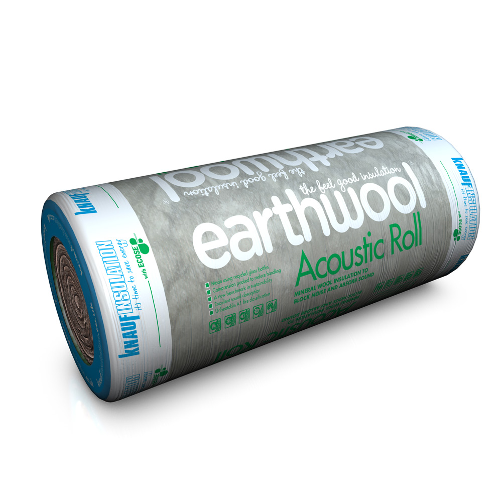 100mm Acoustic Roll Insulation 11m2 Pack 2x600mm Ref 2438517