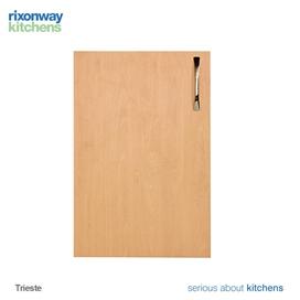 600x570mm-drawline-base-unit-door-and-drawer-trieste-beech-ref-bu595x570ddntrbe