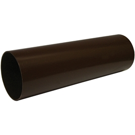 68mm-x-4mtr-round-downpipe-brown