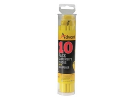 advent-10-pack-of-carpenters-pencils-with-sharpener-ref-xms18pencils