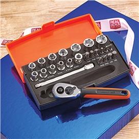 bahco-1-4-sq-drive-25-piece-metric-socket-set-ref-xms15set14sd