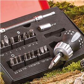 bahco-1-4-stubby-ratchet-screwdriver-bit-set-ref-xms17stubby