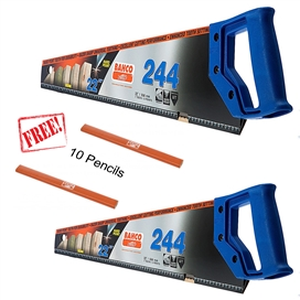 bahco-244-handsaw-22-twin-pack-with-10-free-pencils-ref-bah24422pen