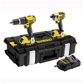 dewalt-li-ion-18v-hammer-drill-and-impact-driver-2no-2ah-batteries-and-tough-case-ref-dewdck285d2t